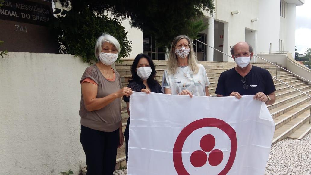 Sra. Yukiko, Luciane Nakamura, Ministra Rita da Igreja Messiânica de Campinas e Prof. Lino