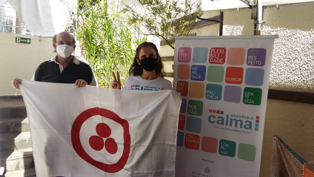 Prof. Lino e Rute Freitas do Programa Escolha a Calma