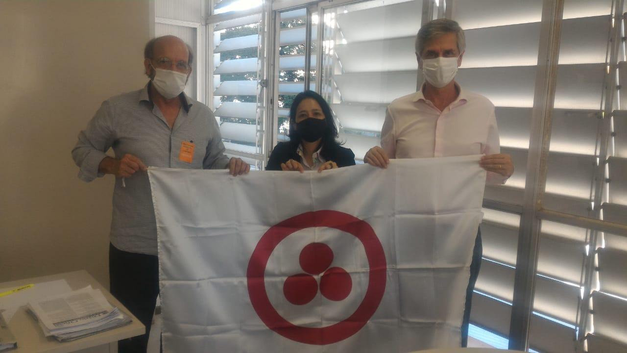 Prof. Lino, Srta. Luciane e Sr. André Von Zuben, Secretário de Gestão Pública de Campinas.