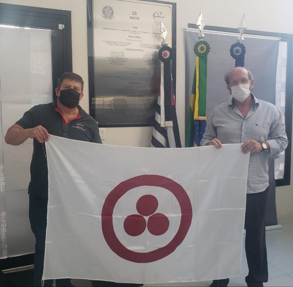 Prof. Paulo Rogério (Periquito) do CREF SP e Prof. Lino