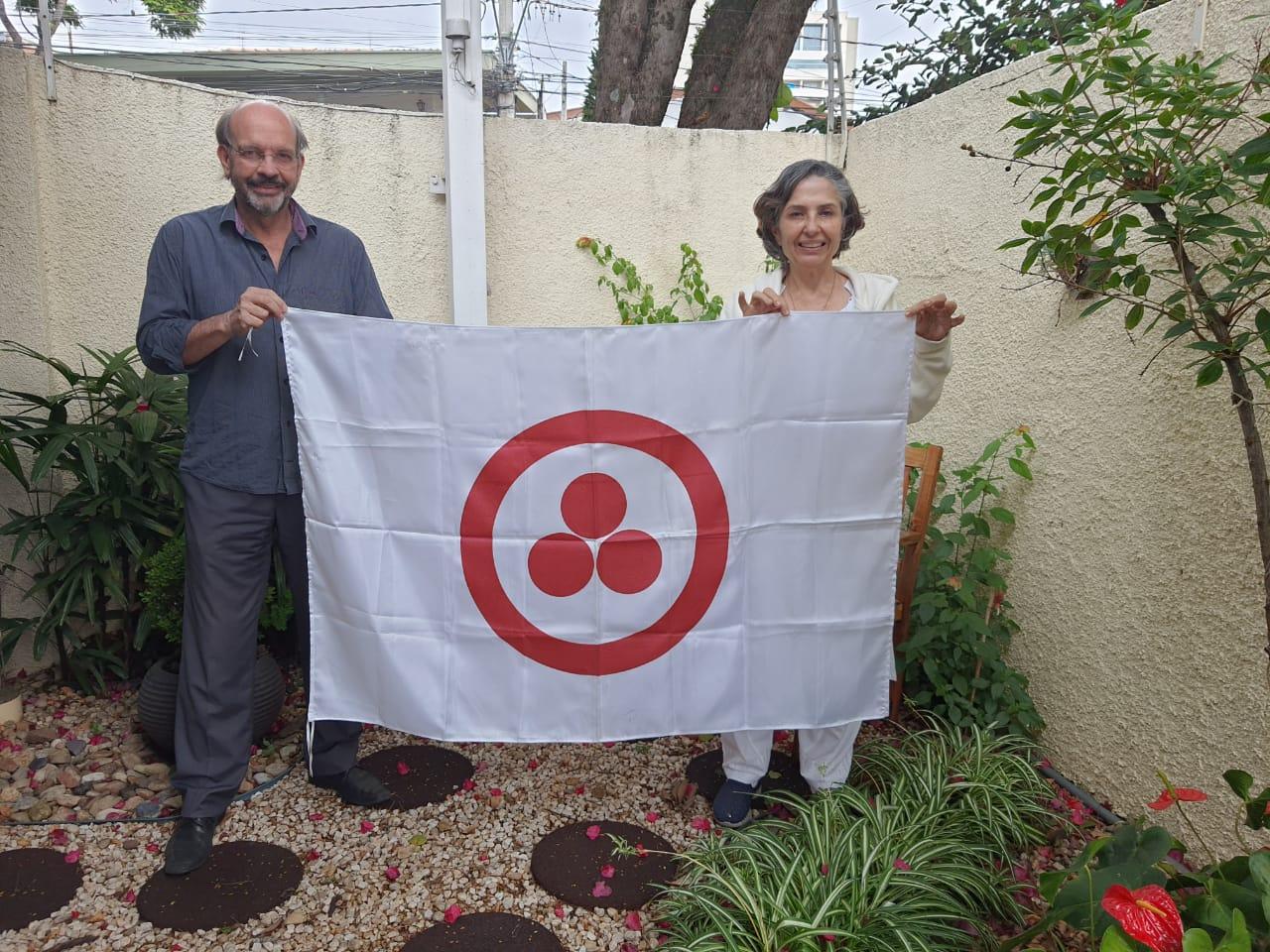 Prof. Lino e Sister Nádia Castro da Brahma Kumaris Campinas